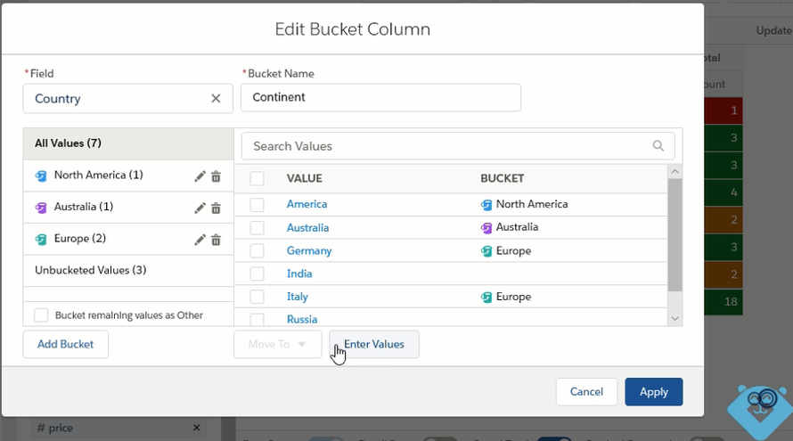 Bucket Column in reports in Salesforce