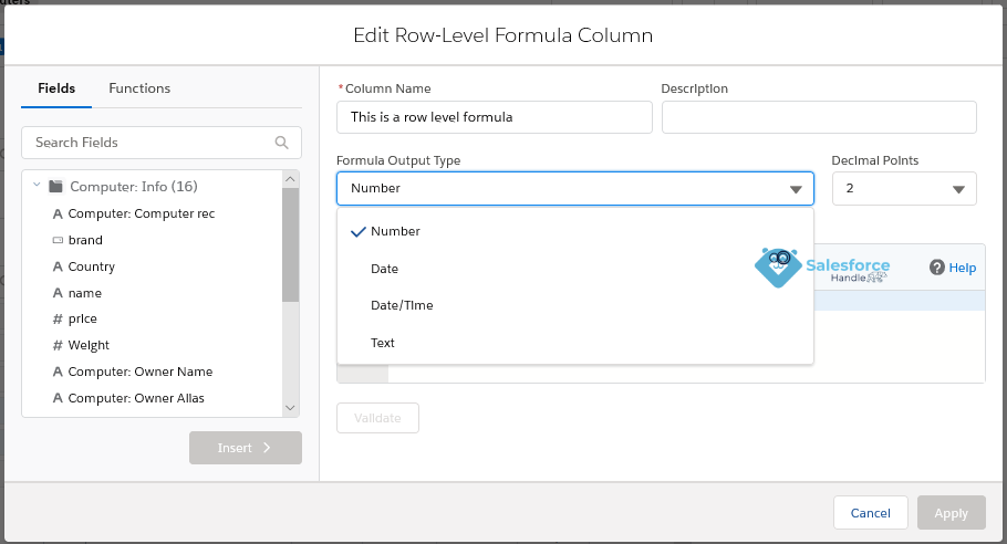 Row-Level Formula in Lightning Experience Reports