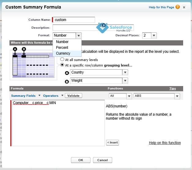 Custom Summary Formula in Salesforce Classic Reports