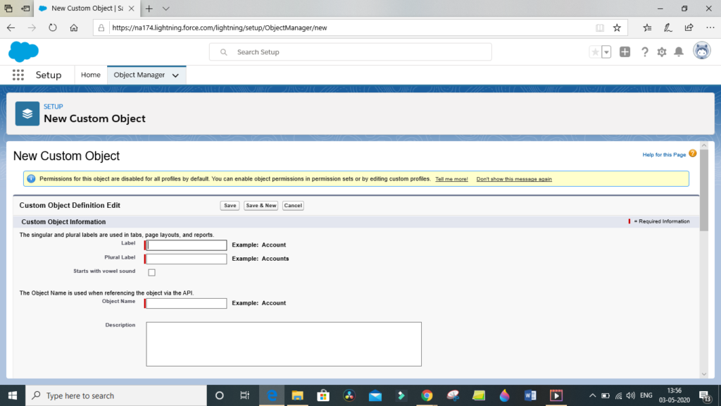 Salesforce objects and fields in Lightning experience