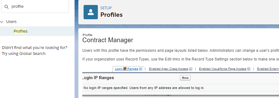 trusted IP ranges salesforce